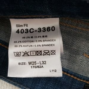 Lee Jeans - LEE Womens Slim Fit Dark Wash Jeans Size 25x32 EUC
